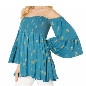 Free People Lana Off the Shoulder Tunic Top